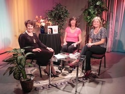On the set at KMVTV