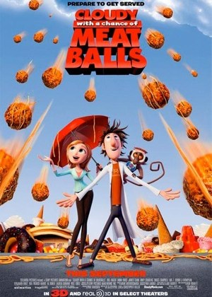 cloudy with a chance of meatblls meatballs poster