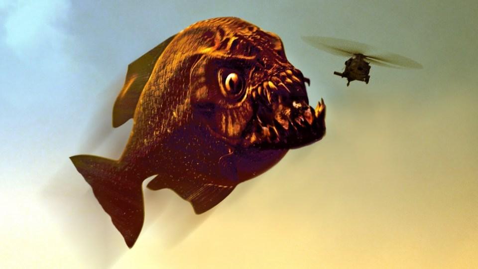 Den danske kult-klassiker Reptilicus er nærmest en oscar-værdig film i forhold til Mega Piranha. (image credit: The Asylum)