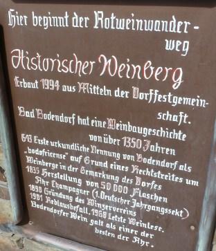 Die Weinberg Geschichte von Bad Bodendorf