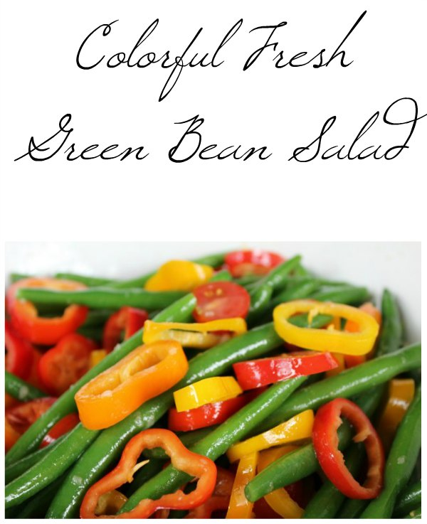 Colourful Fresh Green Bean Salad, last of the 12 Days of School Lunches @ GagenGirls.com