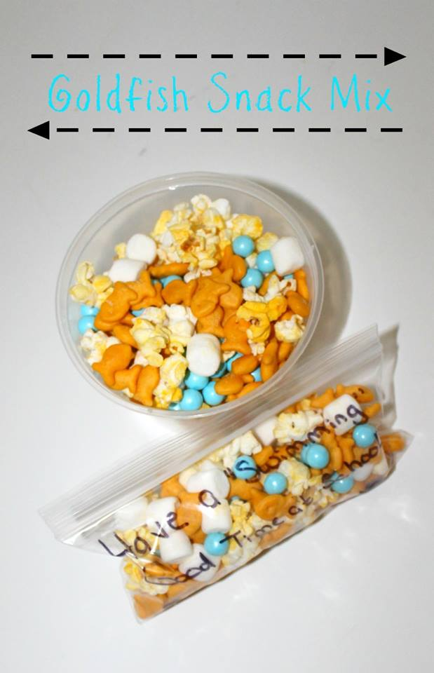 Goldfish Snack Mix, part of the 12 Days of School Lunches on GagenGirls.com