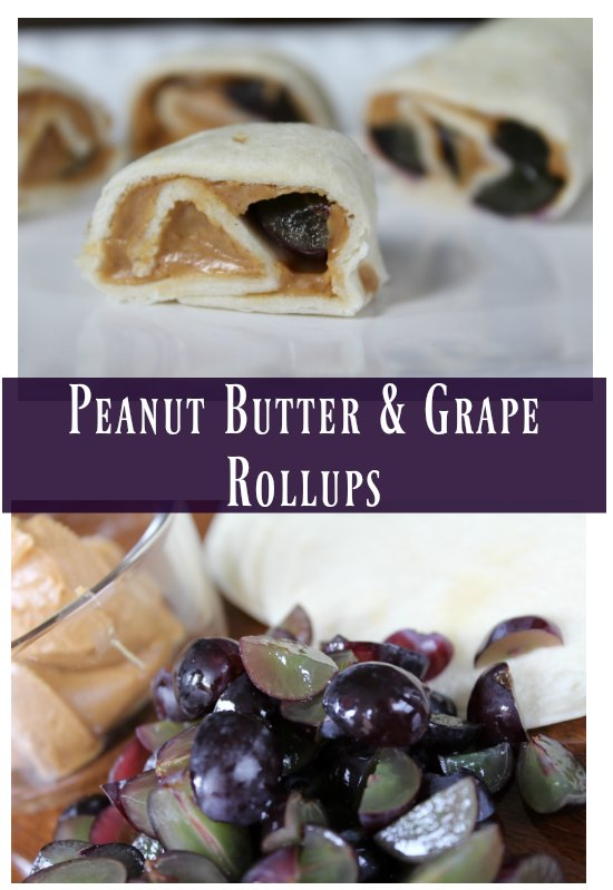 Peanut Butter & Grape Rollups - check out the 12 Days of Back-to-School Lunches on GagenGirls.com