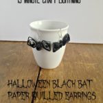 Hallowe'en Black Bat Earrings {12 Days of Hallowe'en}