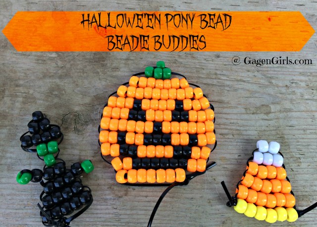 Hallowe'en Pony Bead Beadie Buddies @ GagenGirls.com