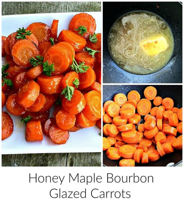 This recipe for Honey Maple Bourbon Glazed Carrots is part of the #12DaysOf Thanksgiving at GagenGirls.com