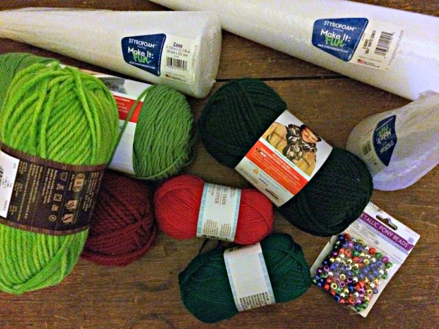 These items can turn into gorgeous Christmas decor! Check out how to make Yarn-Wrapped Christmas Trees at GagenGirls.com