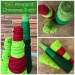 Yarn-Wrapped Christmas Trees {15-Minute Craft Lightning}