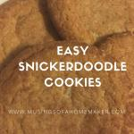 Easy Snickerdoodle Cookie Recipe {12 Days of Christmas}