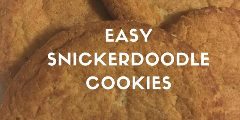 Easy Snickerdoodle Cookies, a brilliant recipe to wrap up the #12DaysOf Christmas
