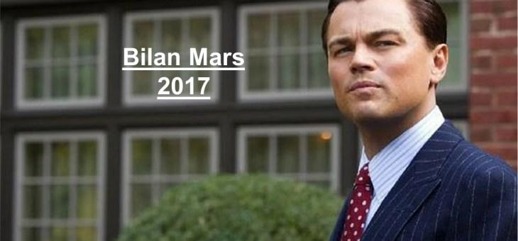 Bilan des Paris : Mars 2017