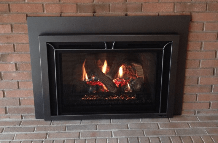 Fireplace Lighting A Gas Fireplace Heat & Glo Escape I30 - Firescreen Iron Front - Graphite