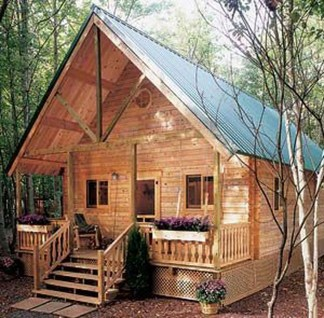 Adorable Cabin Style Ideas For Small House 07