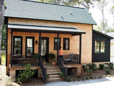 Adorable Cabin Style Ideas For Small House 26