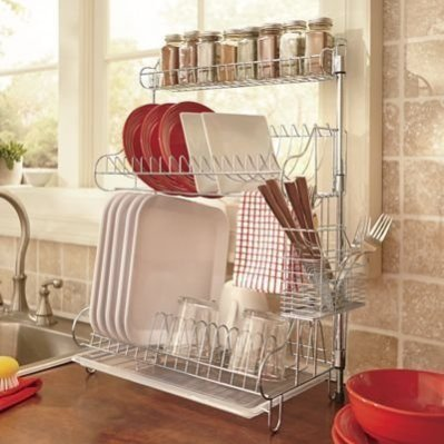 Beautiful Dish Rack Ideas For Your Small Kitchen 34