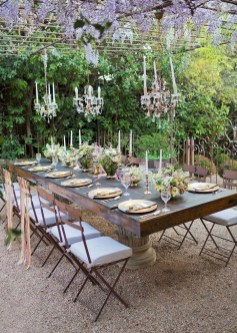 Wonderful Outdoor Dining Room Ideas With Rural Style 14
