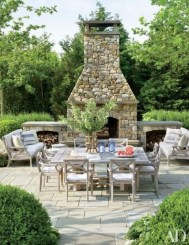 Wonderful Outdoor Dining Room Ideas With Rural Style 28