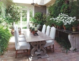 Wonderful Outdoor Dining Room Ideas With Rural Style 45