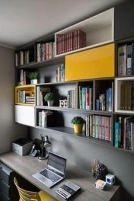 Charming Home Office Cabinet Design Ideas For Easy Storage 03