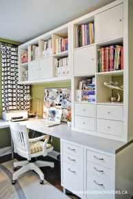 Charming Home Office Cabinet Design Ideas For Easy Storage 05