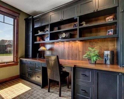 Charming Home Office Cabinet Design Ideas For Easy Storage 08