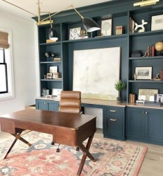 Charming Home Office Cabinet Design Ideas For Easy Storage 21
