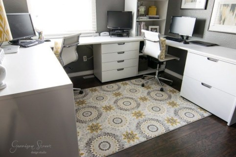 Charming Home Office Cabinet Design Ideas For Easy Storage 32