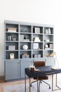 Charming Home Office Cabinet Design Ideas For Easy Storage 36