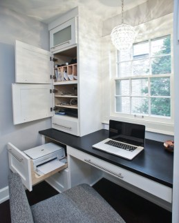 Charming Home Office Cabinet Design Ideas For Easy Storage 37