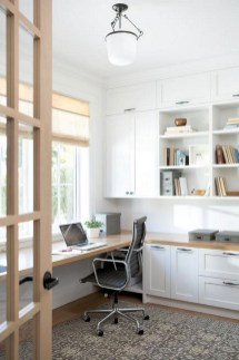 Charming Home Office Cabinet Design Ideas For Easy Storage 38