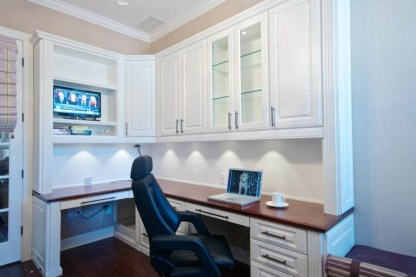 Charming Home Office Cabinet Design Ideas For Easy Storage 43