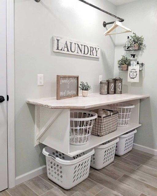 Cozy Laundry Room Storage Design Ideas 08