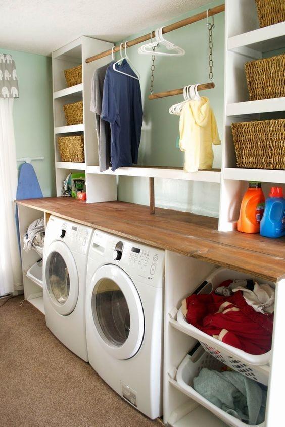 Cozy Laundry Room Storage Design Ideas 21