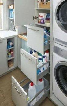 Cozy Laundry Room Storage Design Ideas 32