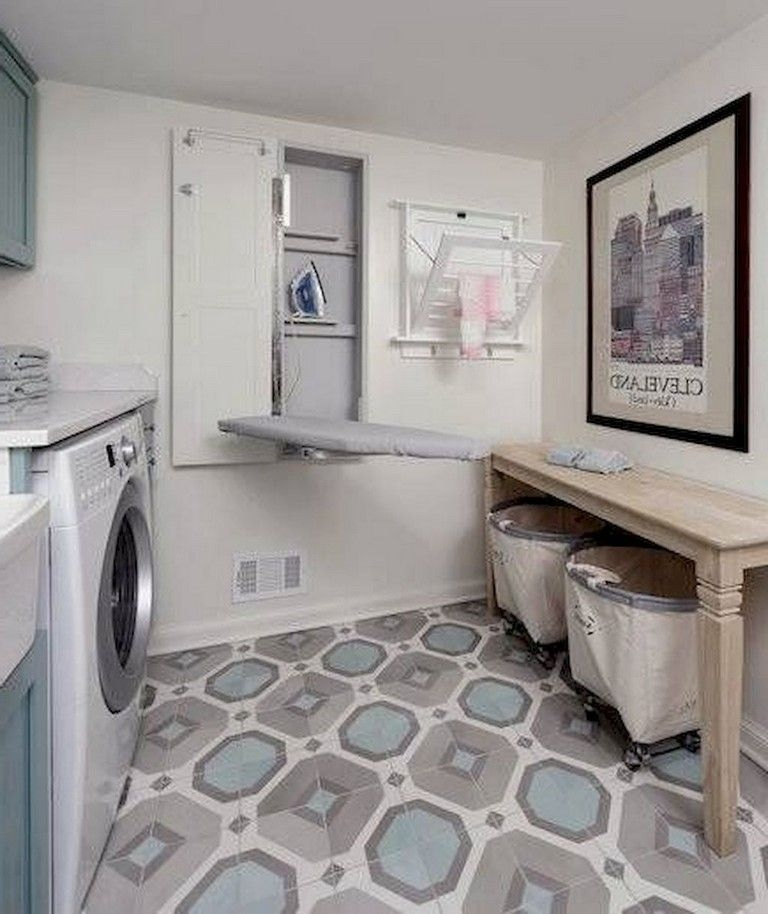 Cozy Laundry Room Storage Design Ideas 40