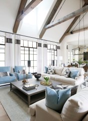 Gorgeous Ceiling Design Ideas For Living Room To Apply Asap 40
