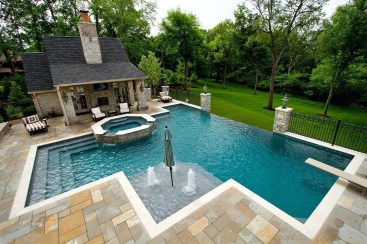 Perfect Backyard Home Design Ideas With Swimming Pool 07