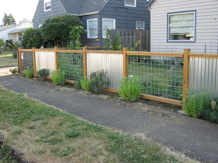 Wonderful Front Yard Ideas With Contemporary Fence 19