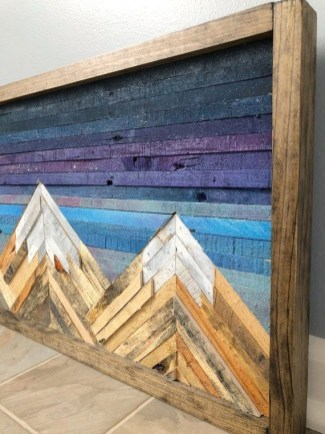 Chic Diy Pallet Wall Art Ideas To Try 15