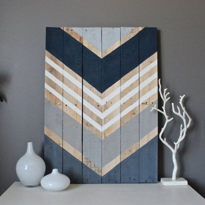 Chic Diy Pallet Wall Art Ideas To Try 45