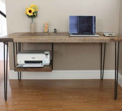 Creative Farmhouse Desk Ideas For The Home Office To Try 49