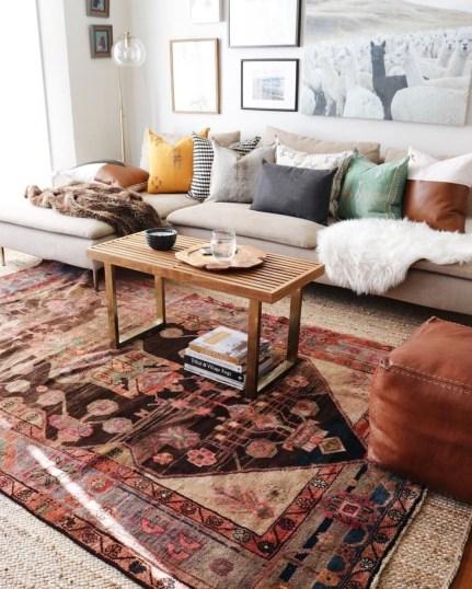 Fantastic Rug Living Room Design Ideas You Must Have 24