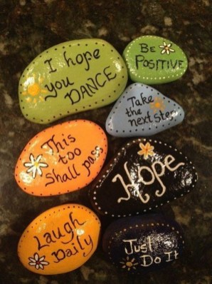 Fascinating Painted Rocks Quotes Design Ideas 03