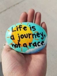 Fascinating Painted Rocks Quotes Design Ideas 16