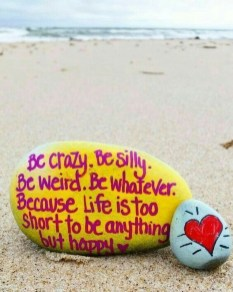 Fascinating Painted Rocks Quotes Design Ideas 22