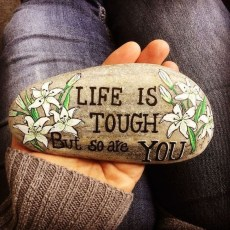 Fascinating Painted Rocks Quotes Design Ideas 34