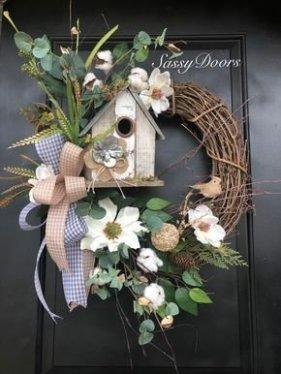 Pretty Summer Wreaths Decor Ideas That Looks Cool 15