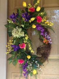 Pretty Summer Wreaths Decor Ideas That Looks Cool 23