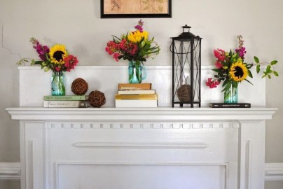 Unique Summer Mantel Decorating Ideas To Try 11