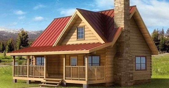 Wonderful Homes Plans Design Ideas With Log Cabin 06